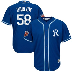 Youth Majestic Kansas City Royals Scott Barlow Royal Cool Base 2018 Spring Training Jersey - Authentic