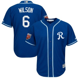 Youth Majestic Kansas City Royals Willie Wilson Royal Cool Base 2018 Spring Training Jersey - Authentic