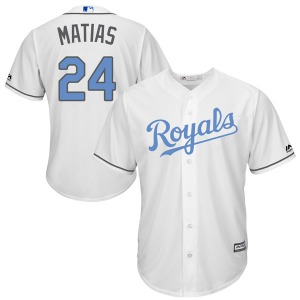 Youth Majestic Kansas City Royals Seuly Matias White Cool Base Father's Day Jersey - Replica