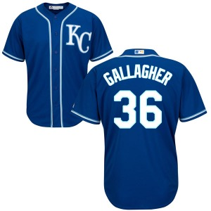 Youth Majestic Kansas City Royals Cam Gallagher Blue Cool Base Alternate Jersey - Replica