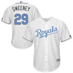 Men's Majestic Kansas City Royals Mike Sweeney White Cool Base Father's Day Jersey - Replica